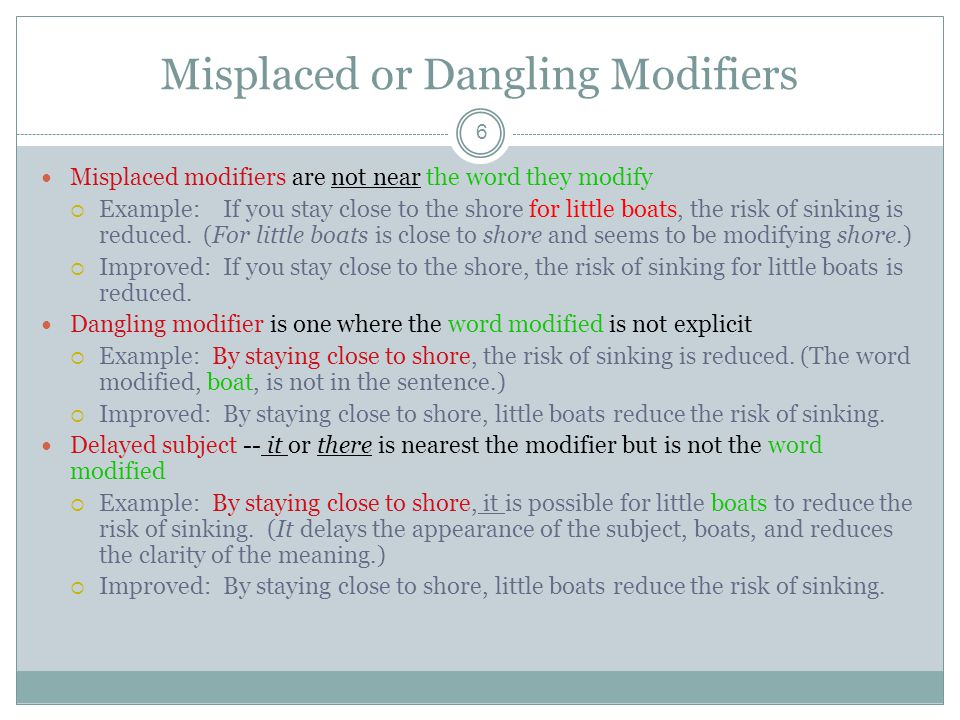 Dangling Modifiers Can Be Dangerous Ppt Download. Misplaced Or Dangling Modifiers. Worksheet. Dangling Modifier Worksheet At Clickcart.co