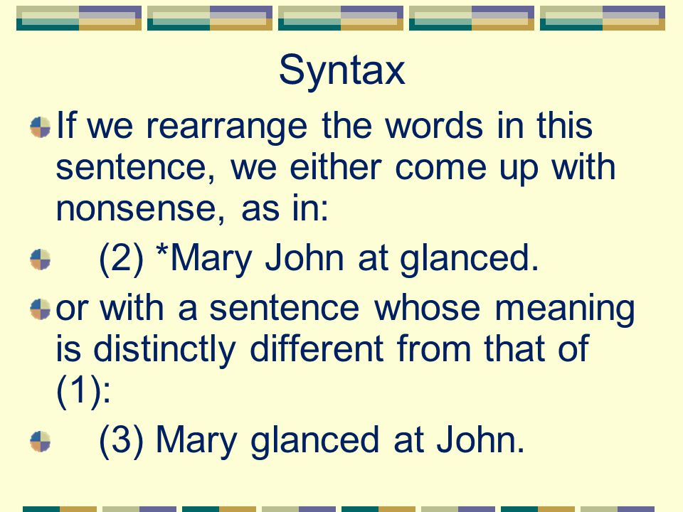 syntax the number of words in a language is finite ppt download