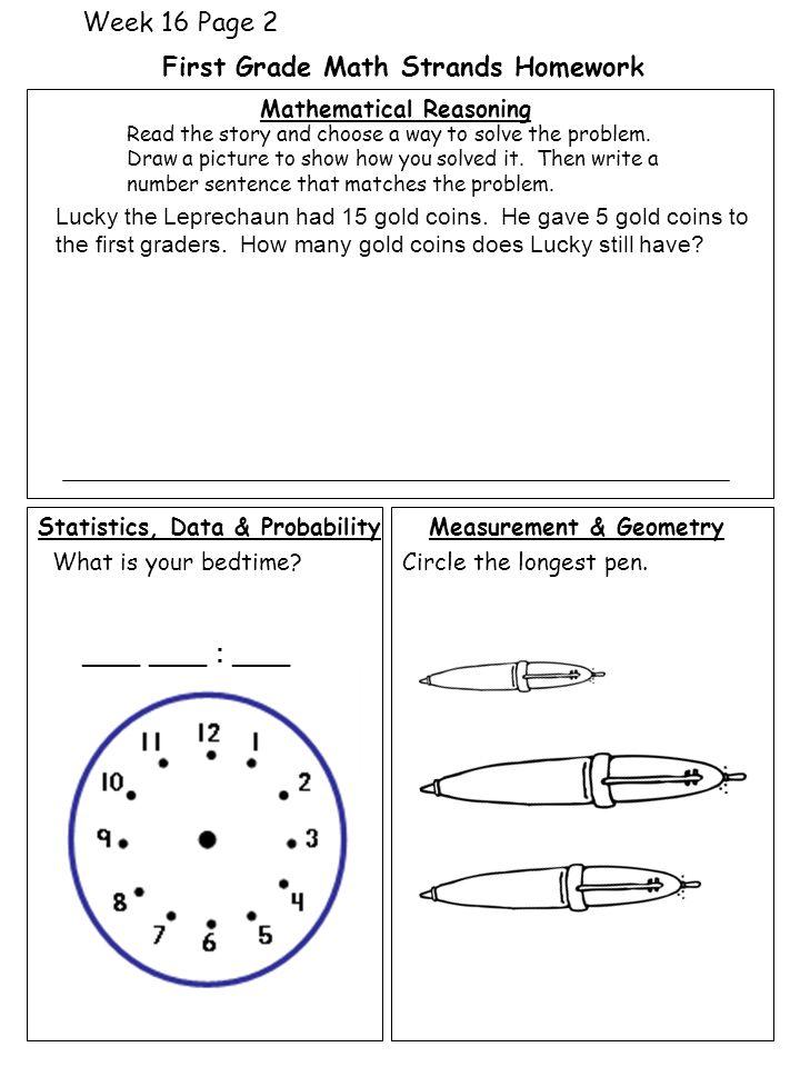 homework for grade 1