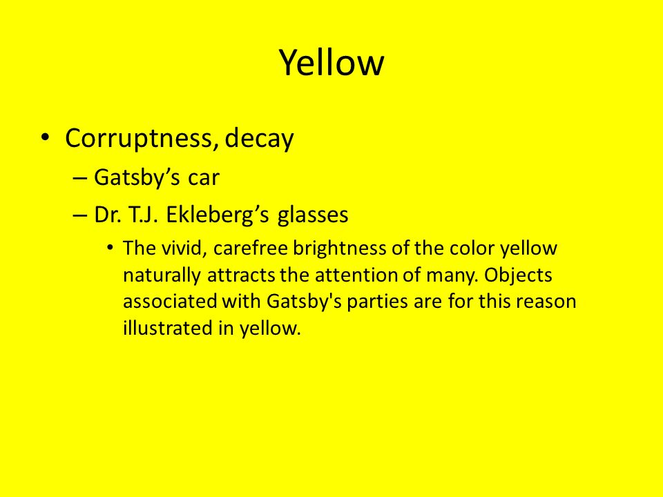 what color is gatsbys car