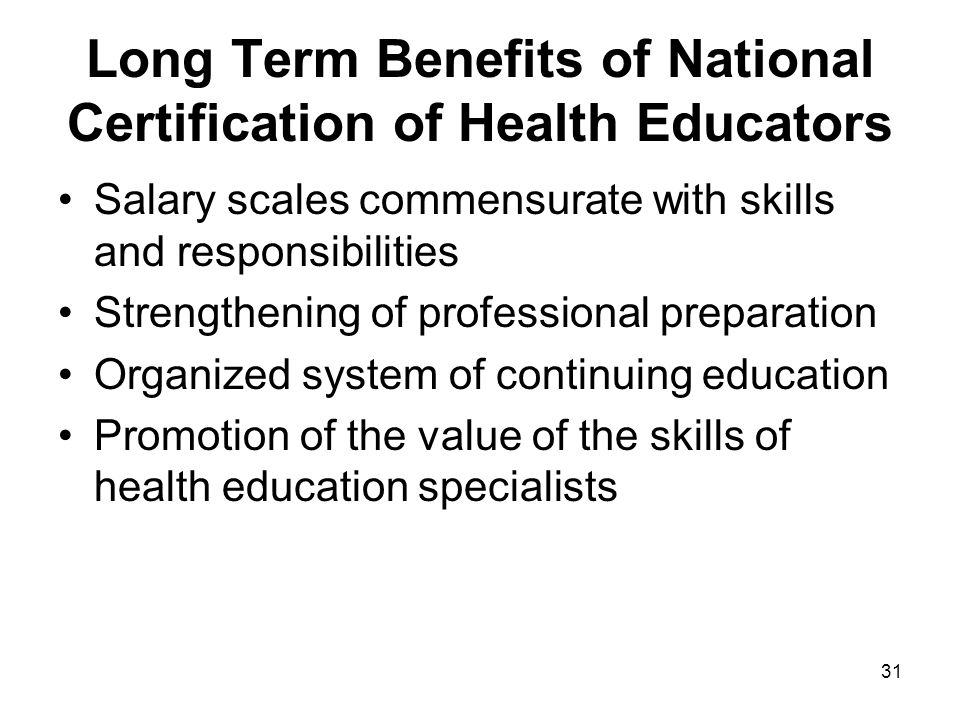 Defining The Role Of The Health Education Specialist Ppt Download