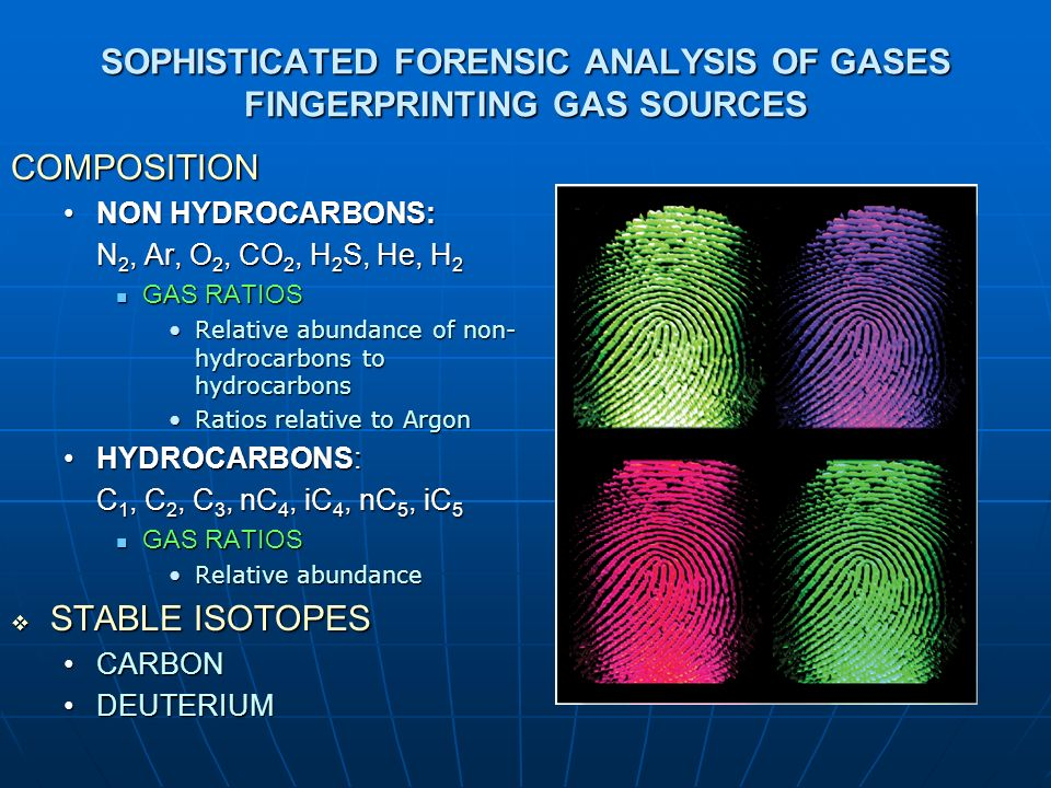 SOPHISTICATED FORENSIC ANALYSIS OF GASES FINGERPRINTING GAS SOURCES