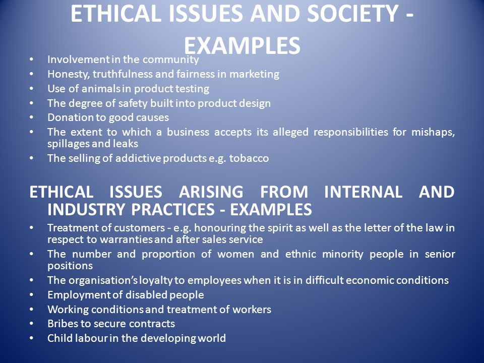 ethical issues in marketing examples