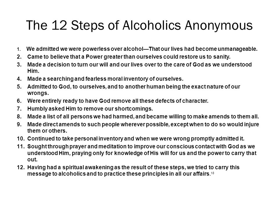 alcoholics anonymous support group report essay Social support for abstinence in alcoholics anonymous (aa) has been reported to be a consistent factor accounting for aa benefit however, the nonspecific or unintended effects of such support remain poorly understood and rarely investigated.