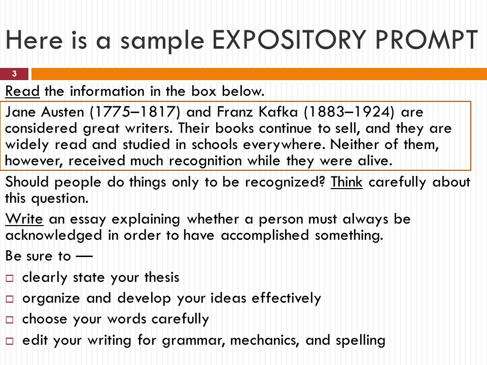 samples of expository essays