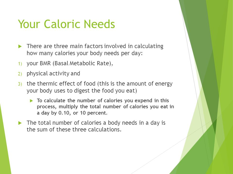 Calories And Diet Ppt Download