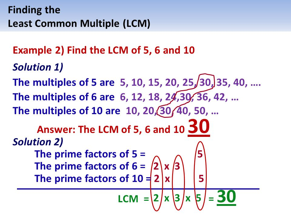 Least Common Multiple (LCM) of - ppt video online download