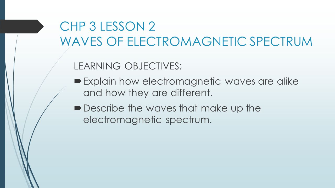 CHP 3 LESSON 2 WAVES OF ELECTROMAGNETIC SPECTRUM