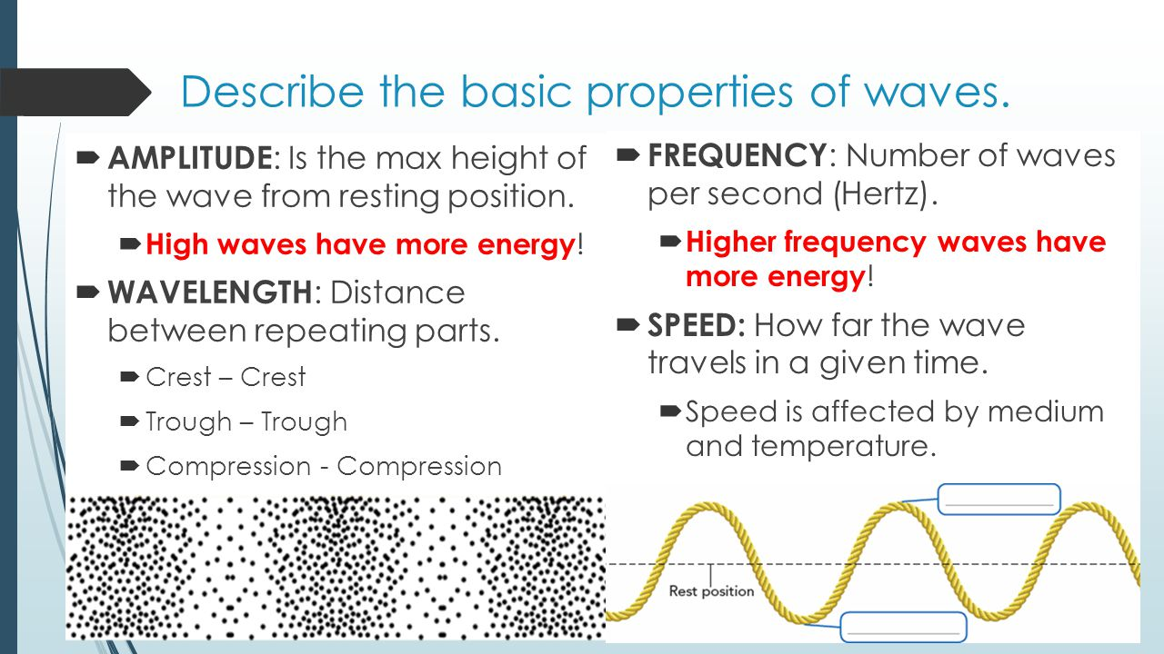 Describe the basic properties of waves.