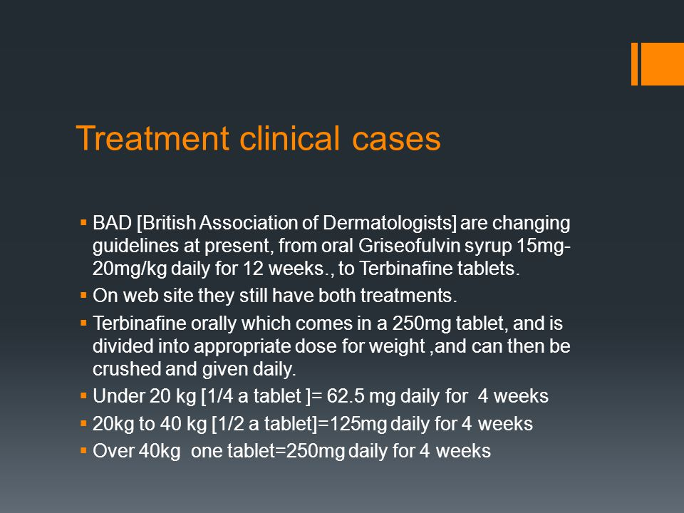 Treatment clinical cases