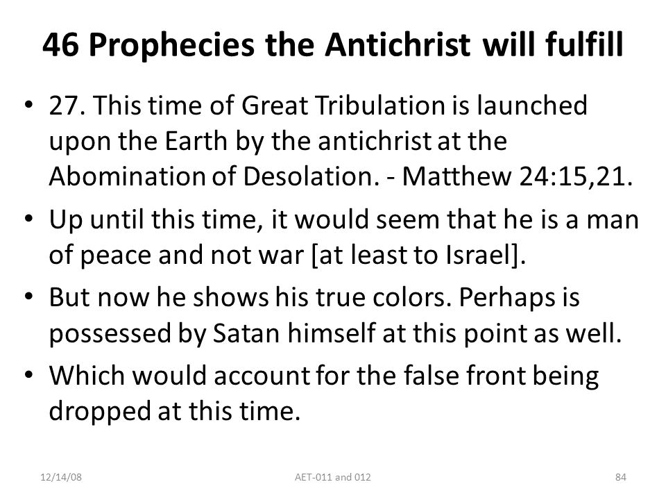 Antichrist and End Times-011 and ppt download