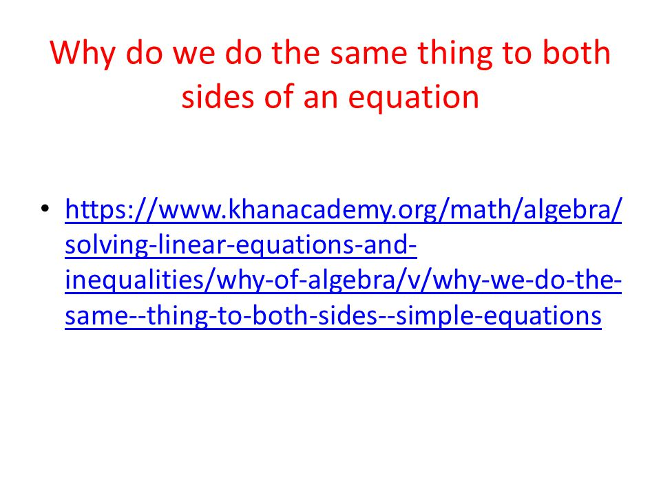 Solving One and Two step Equations - ppt video online download