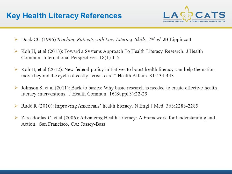 teaching patients with low literacy skills