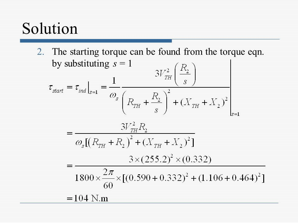 How To Calculate Rotor Resistance Of Induction Motor How