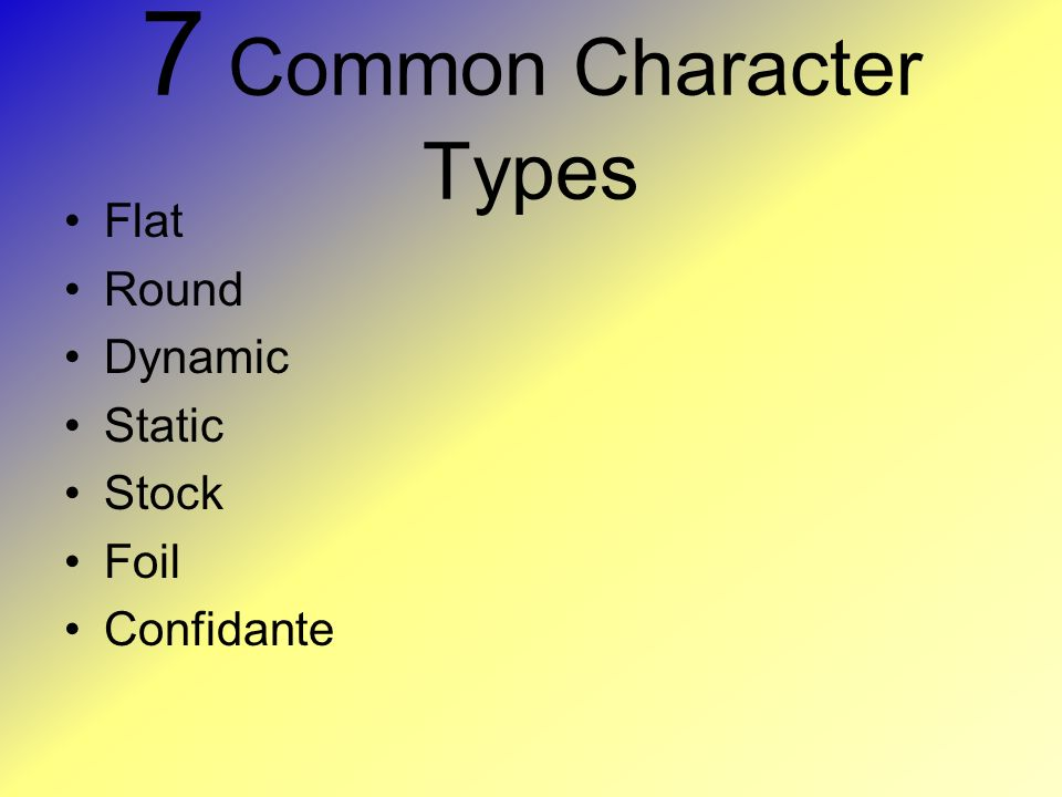 7 Common Character Types