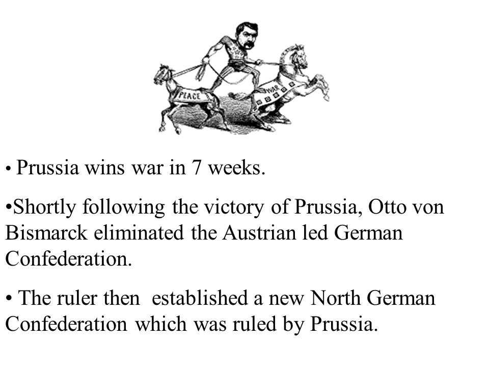 Prussia wins war in 7 weeks.
