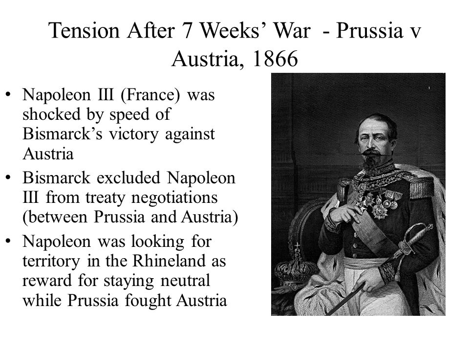 Tension After 7 Weeks' War - Prussia v Austria, 1866
