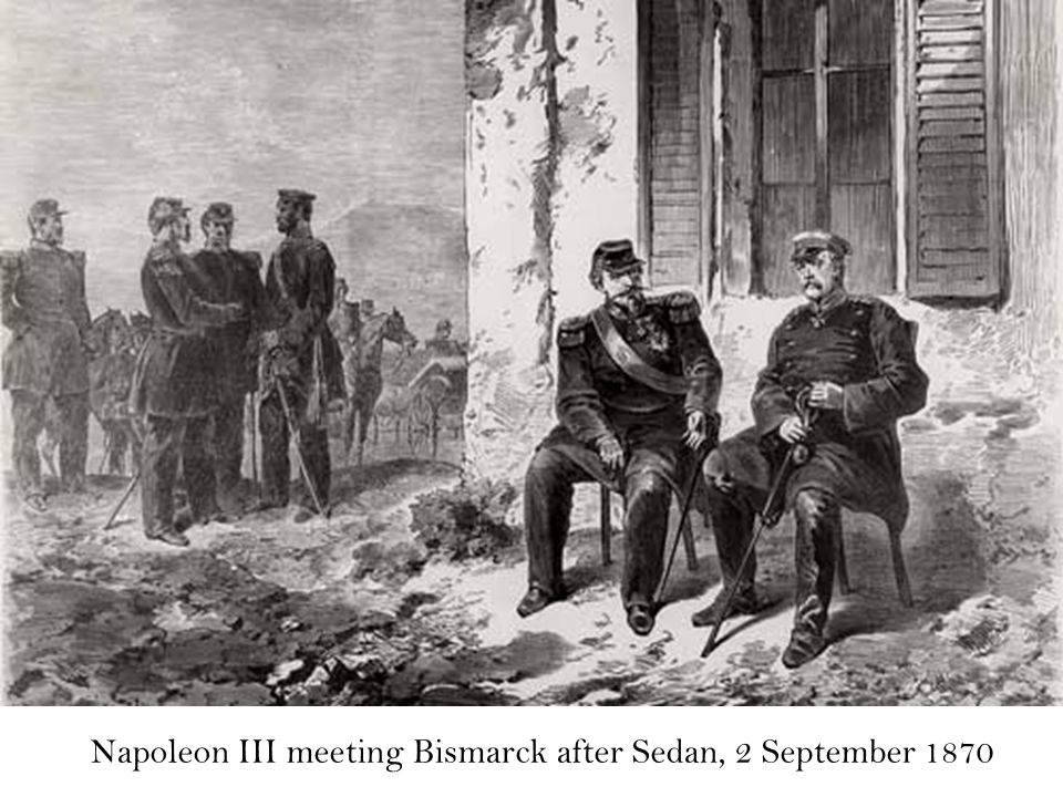 Napoleon III meeting Bismarck after Sedan, 2 September 1870