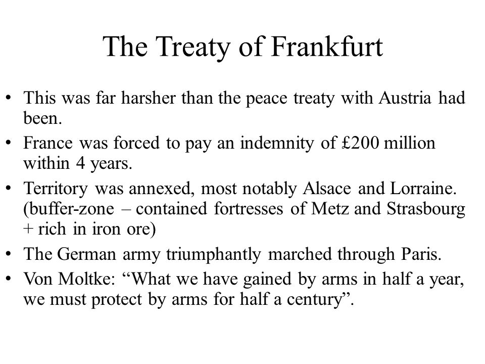 The Treaty of Frankfurt