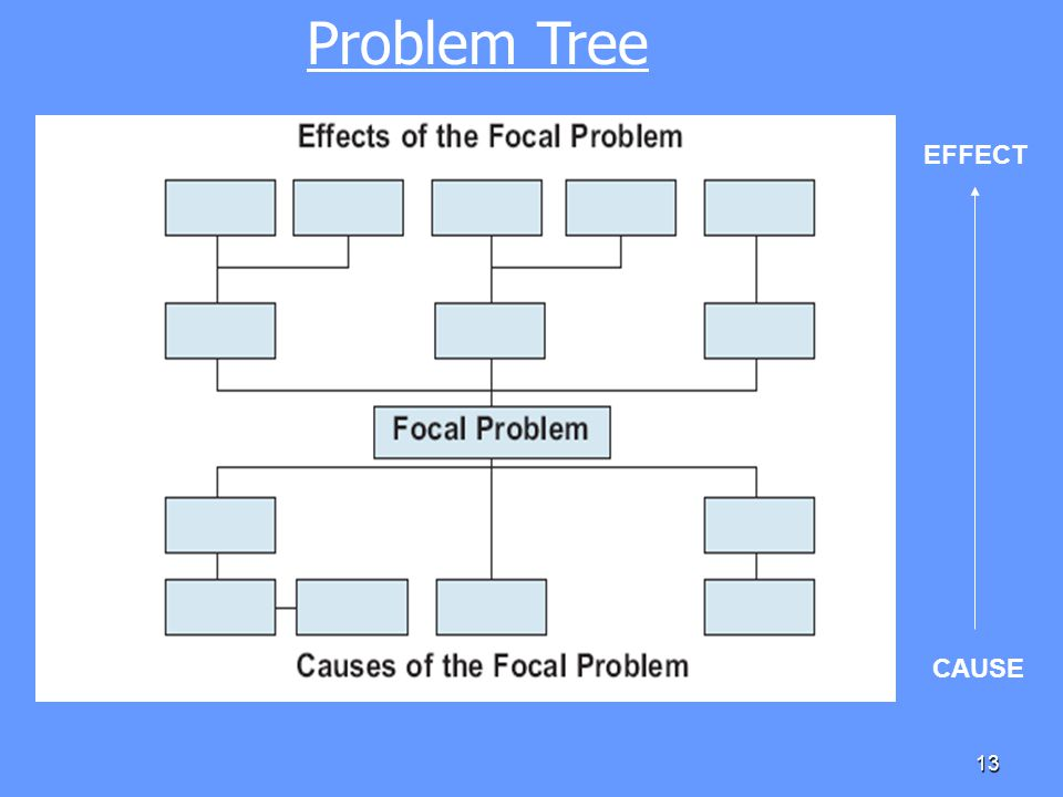 Problem Tree EFFECT CAUSE