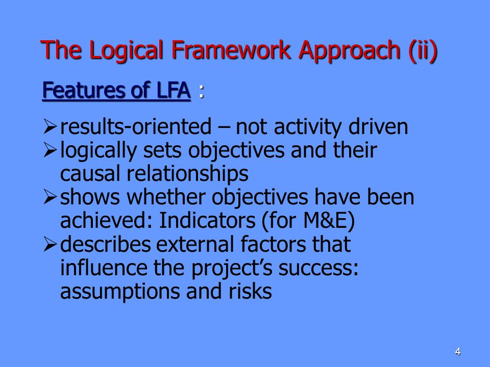 The Logical Framework Approach (ii)