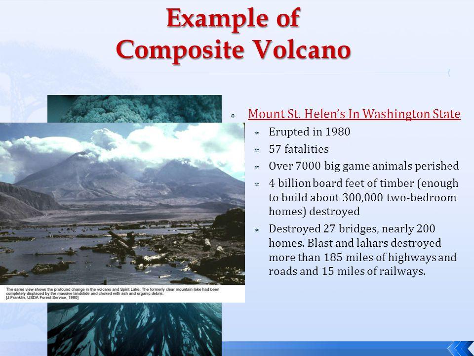 Composite volcanoes.
