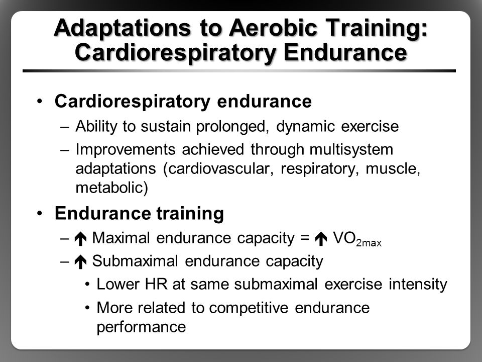 how to build cardiorespiratory endurance