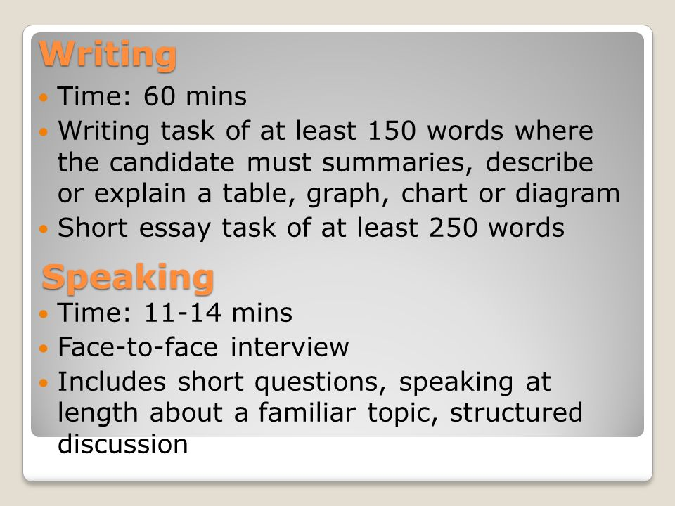 Introduction to ielts exam ppt download 4 writing ccuart Image collections
