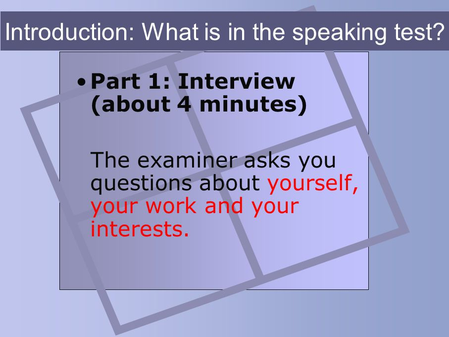 Bulats speaking practice ppt video online download.