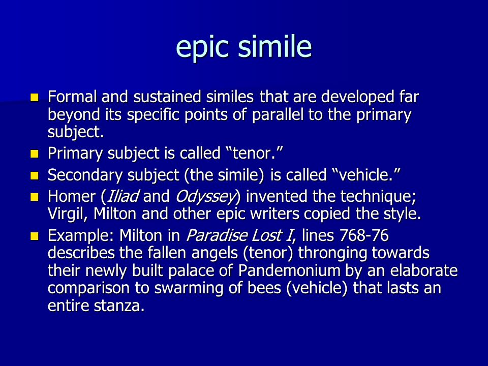 Examples Of Epic Similes In The Odyssey Gallery Example Cover