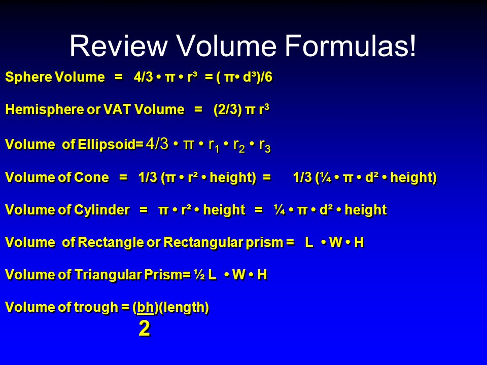 area volume and surface area formulas pdf