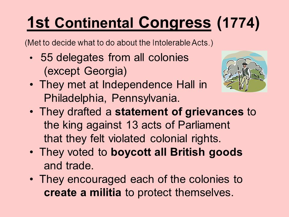 1st Continental Congress (1774)