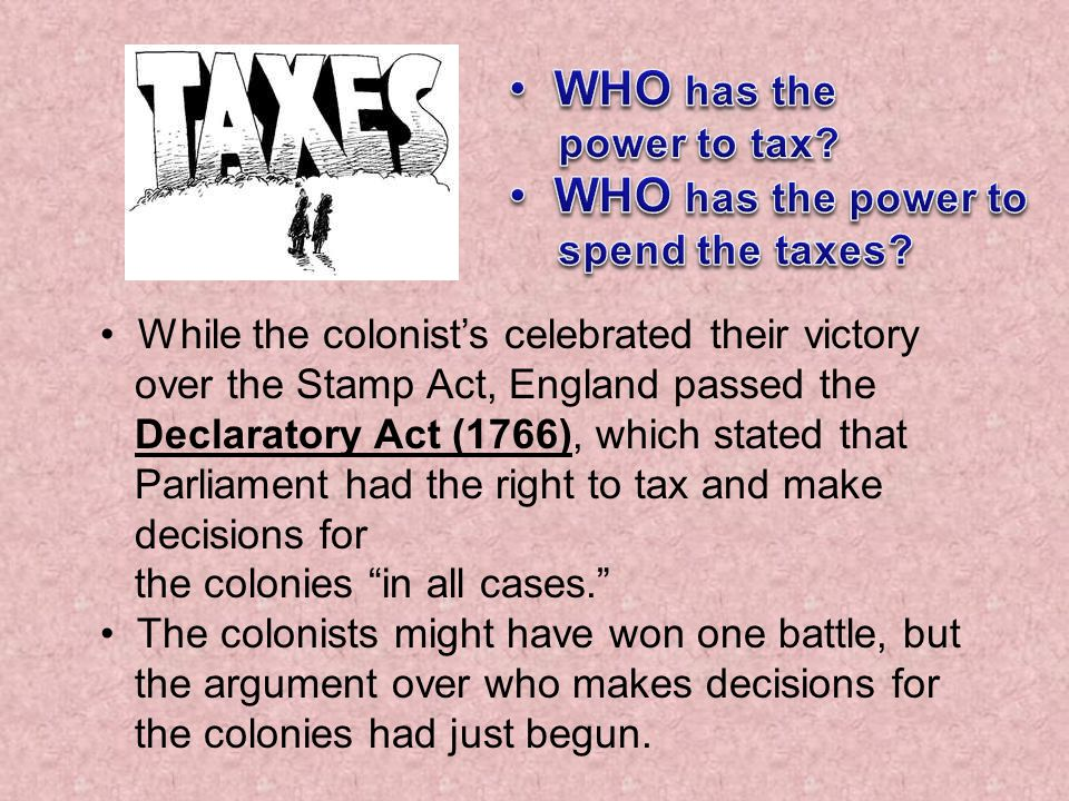 WHO has the WHO has the power to power to tax spend the taxes