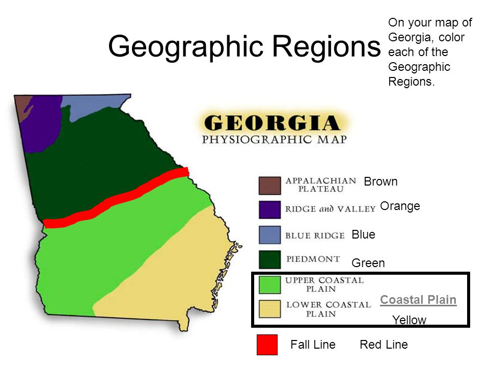 Map Of Georgia Physiographic Regions.Created By Blair Weikel Adapted By Megan Rainwater Ppt Video