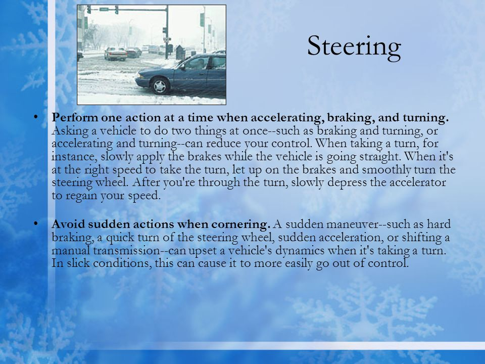 Tips for Winter Driving - ppt video online download