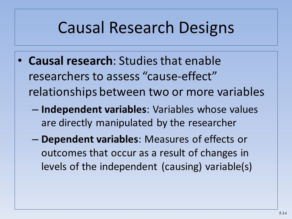 Causal Research Designs