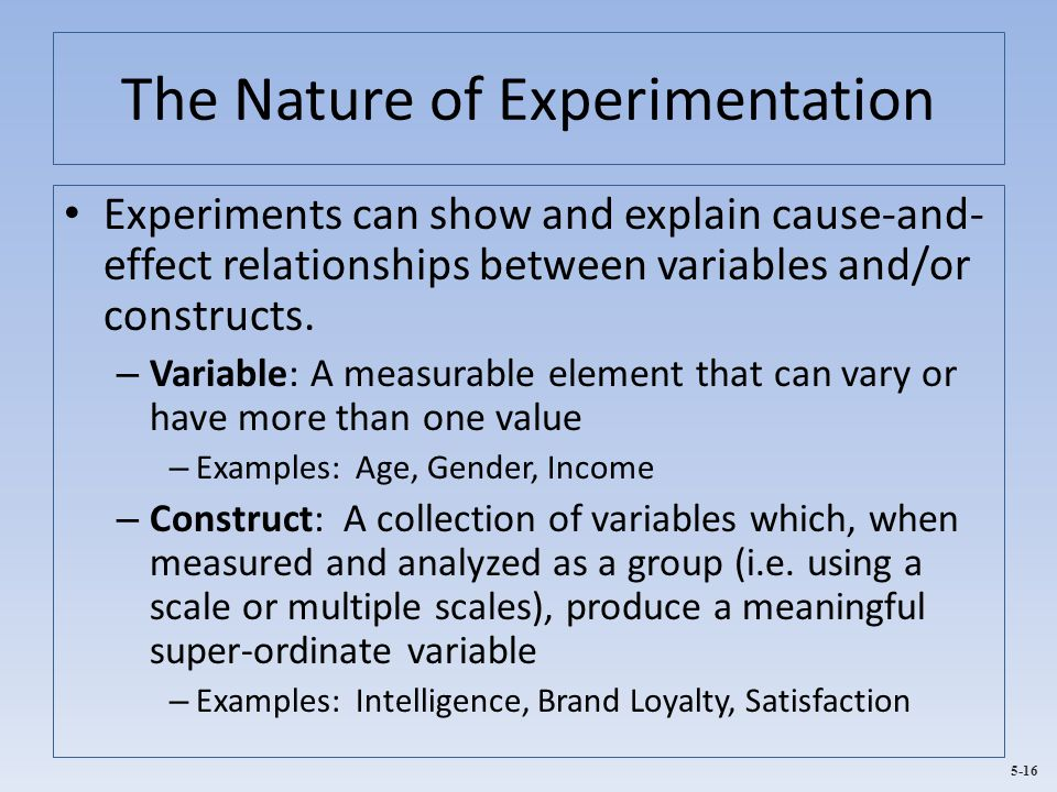 The Nature of Experimentation