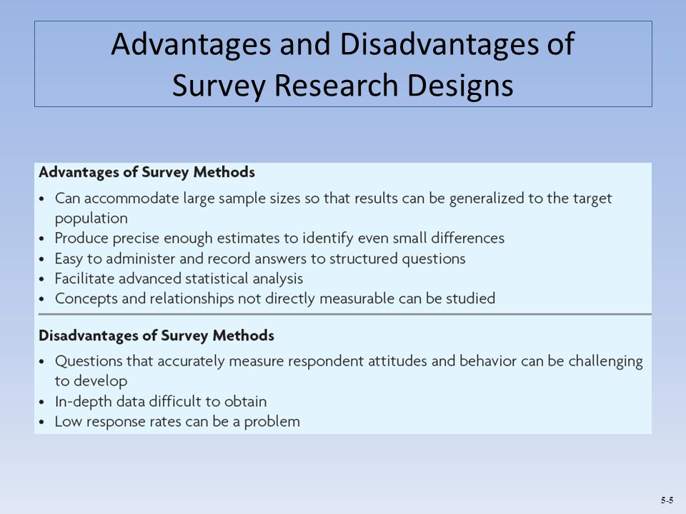 Advantages and Disadvantages of Survey Research Designs