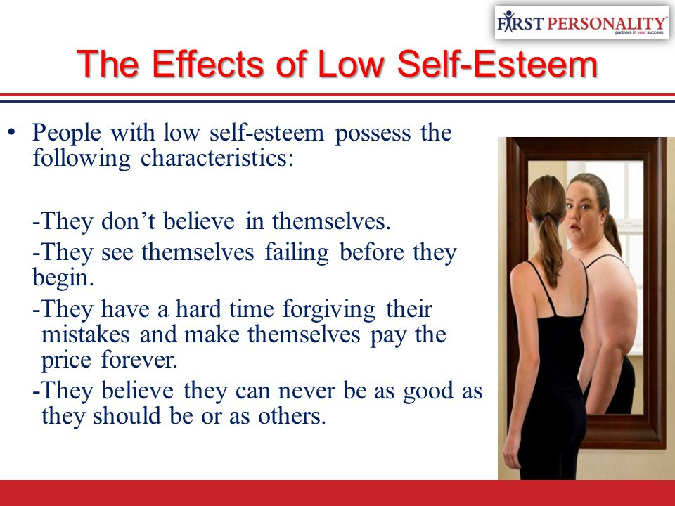 low self esteem effects on education