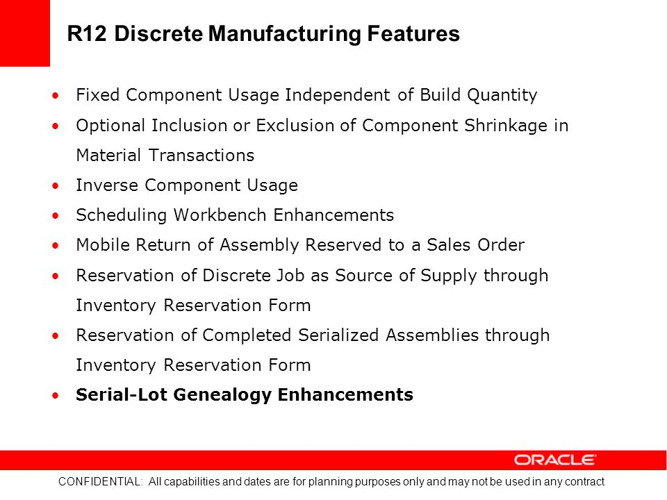 Discrete Manufacturing What's New in R12 - ppt download