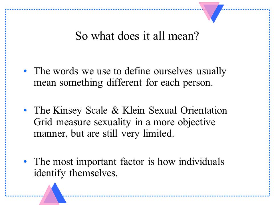 Klein sexual orientation grid test november