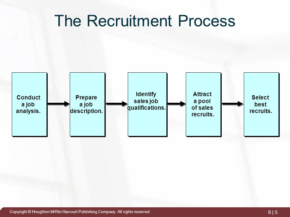 The New Recruit and The Sales Process