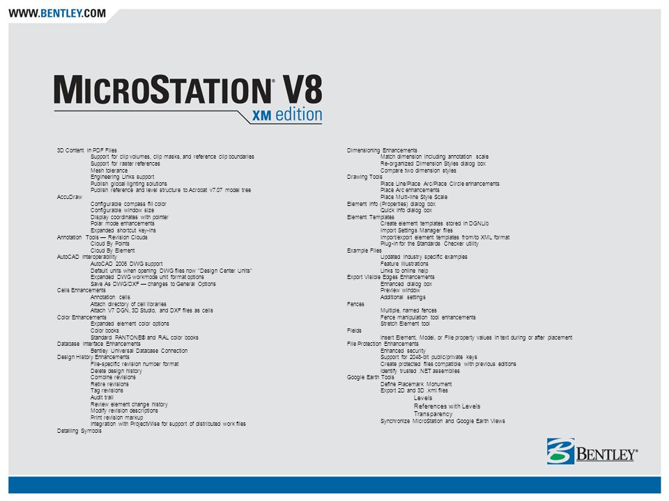 MicroStation V8 XM Edition General Overview - ppt video