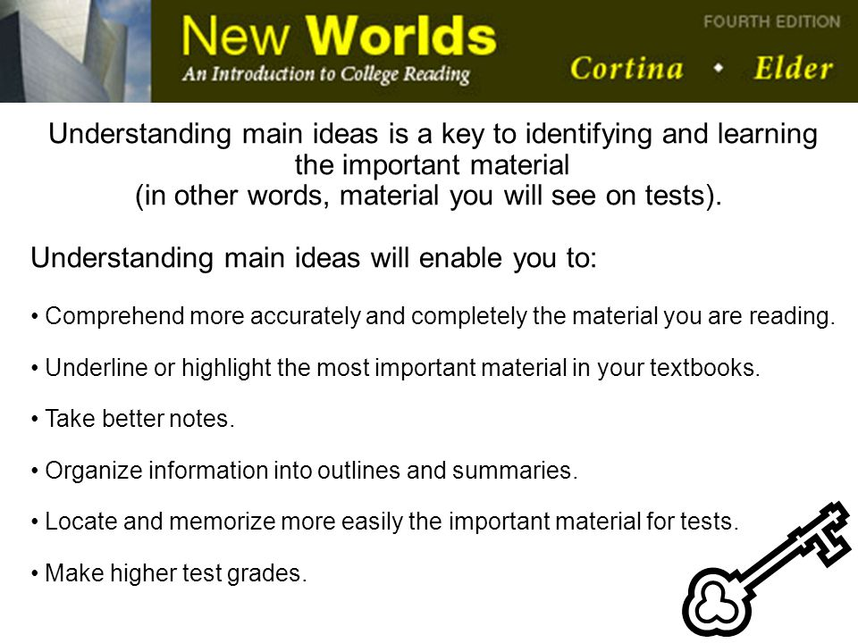 (in other words, material you will see on tests).