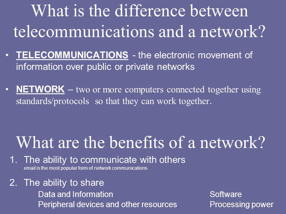 Networking and Telecommunications topics for the Business