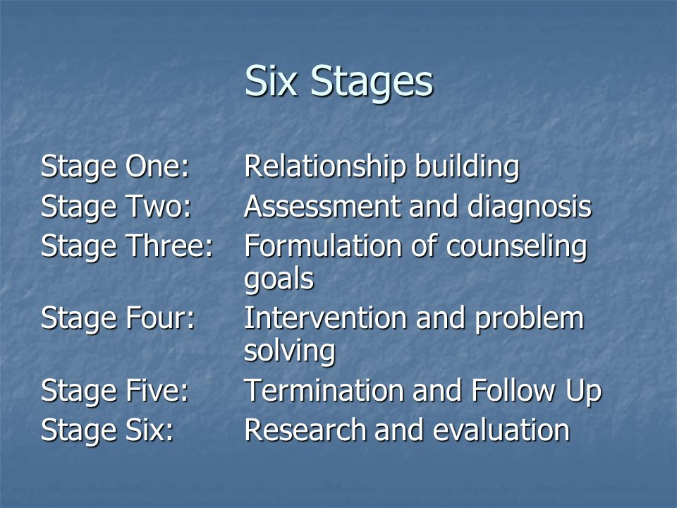 four stages of counseling process pdf