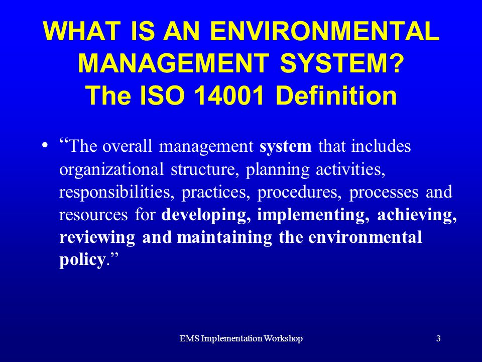 Environmental Management System Training - ppt download