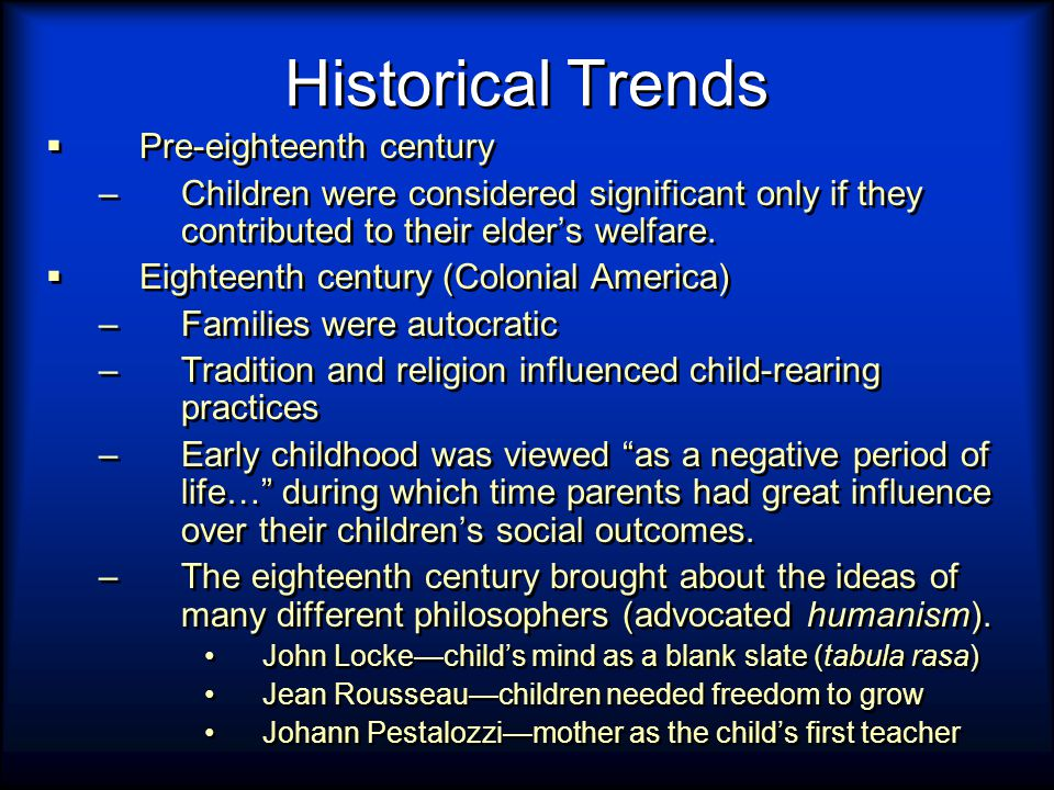 history of child rearing practices