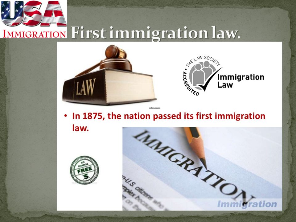 First immigration law.