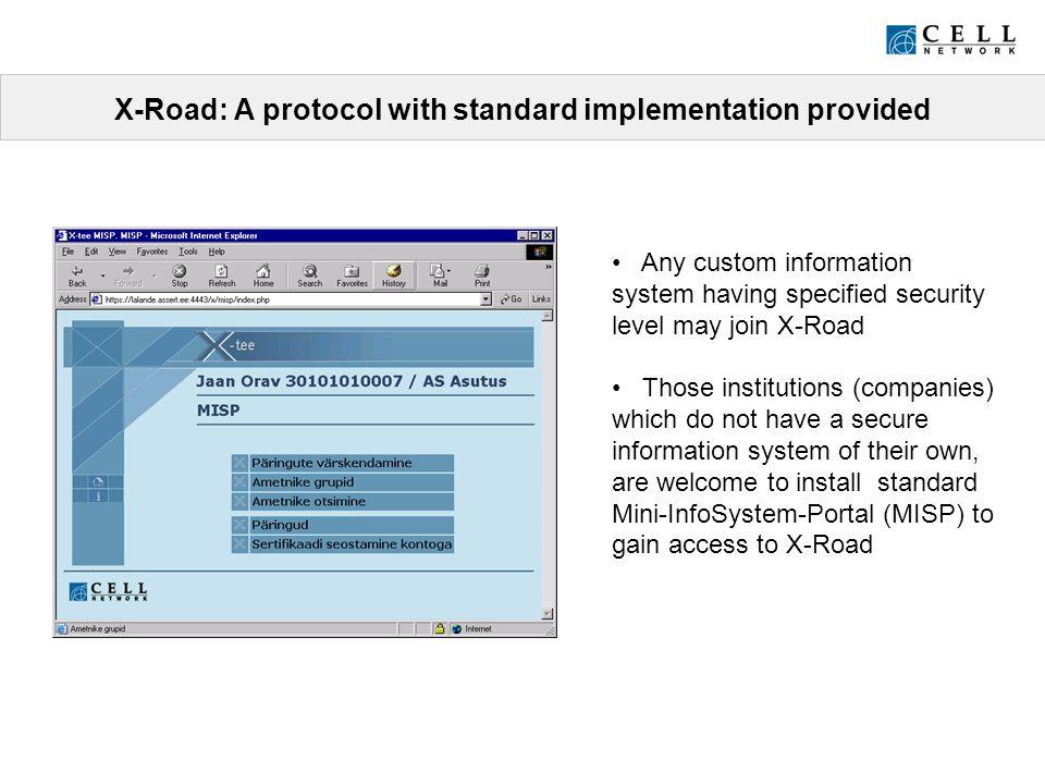 X-Road (X-tee) A platform-independent secure standard